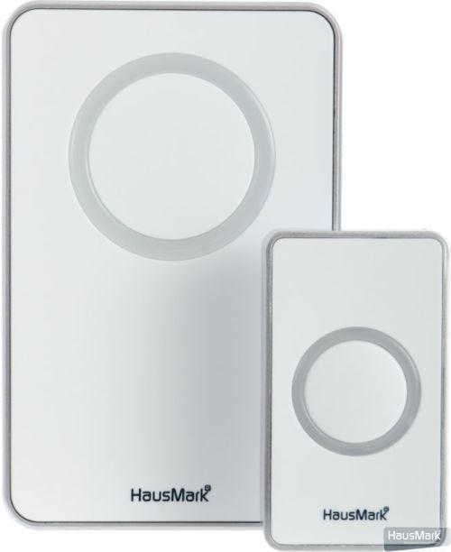 Звонок беспроводной HausMark белый с серым WSD-912-GY11