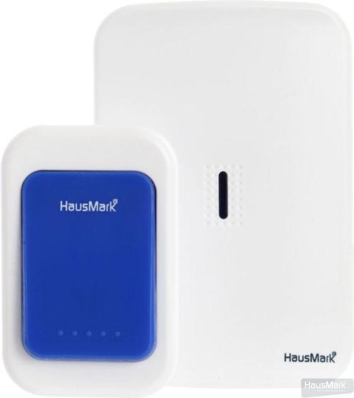 Звонок беспроводной HausMark белый с синим WSD-8532-BL14