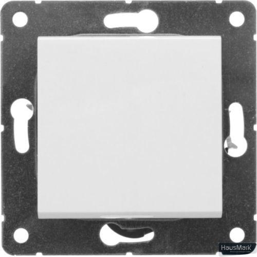 Переключатель проходной одноклавишный HausMark Alta без подсветки 10 А 220В белый SNG-SWP.SQ20MG1W2-WH