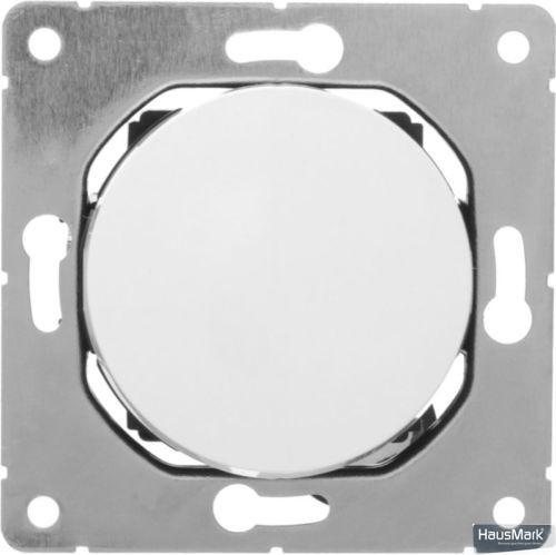 Переключатель проходной одноклавишный HausMark Bela без подсветки 10 А 220В белый SNG-SWP.RD20MG1W2-WH