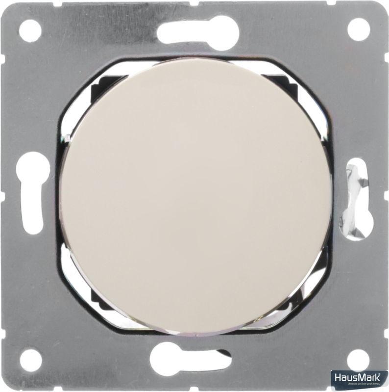 Переключатель проходной одноклавишный HausMark Bela без подсветки 10 А 220В кремовый SNG-SWP.RD20MG1W2-CR