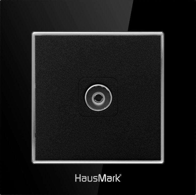 Накладка на механизм розетки HausMark Alta черный SNG-SCP.SQ20MG1TV-BK