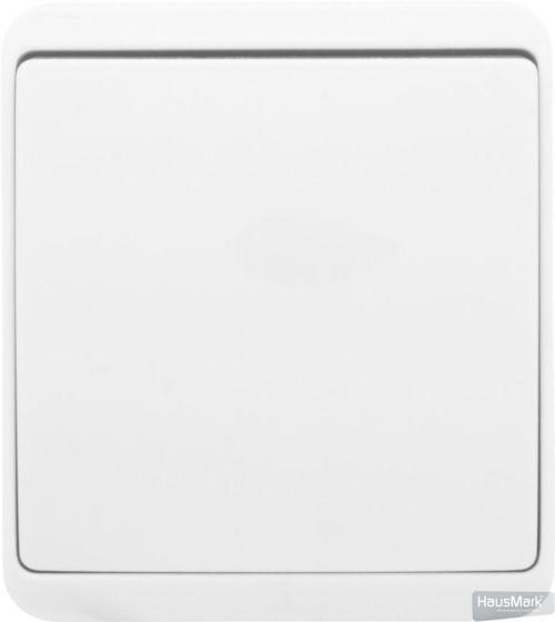 Выключатель одноклавишный HausMark Domo без подсветки 10 А 220-250В белый HSN-SWP.H3C20G1W1-WH
