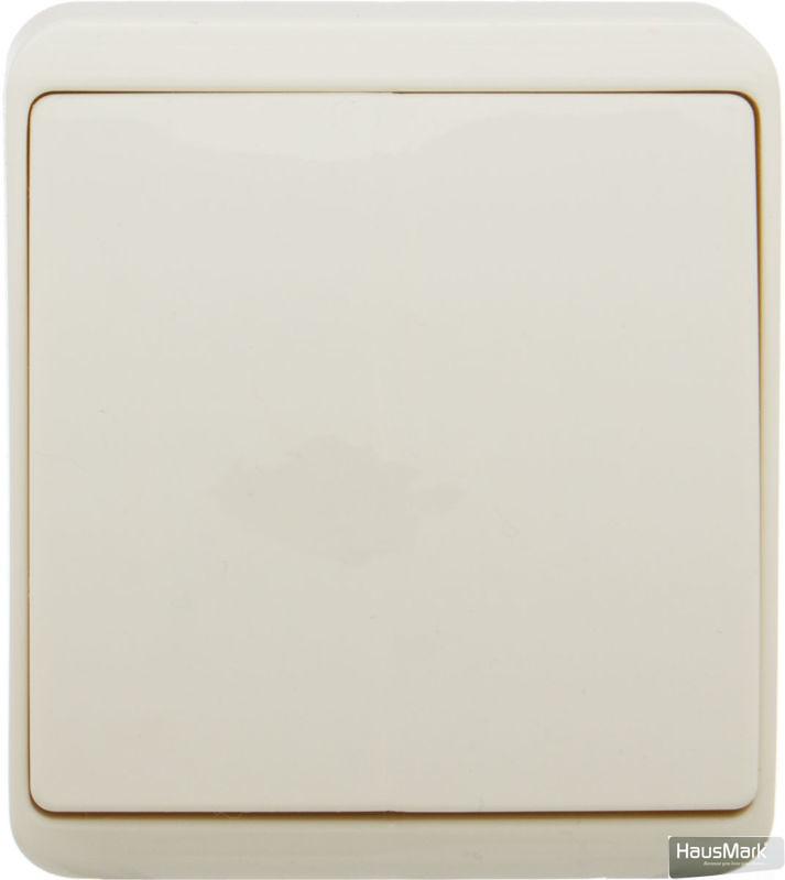 Выключатель одноклавишный HausMark Domo без подсветки 10 А 220-250В кремовый HSN-SWP.H3C20G1W1-CR