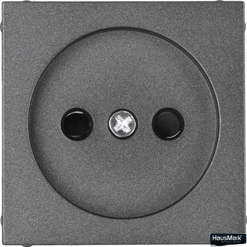 Накладка на механизм розетки HausMark Alta черный SNG-SCP.SQ20MG1WTG-BK