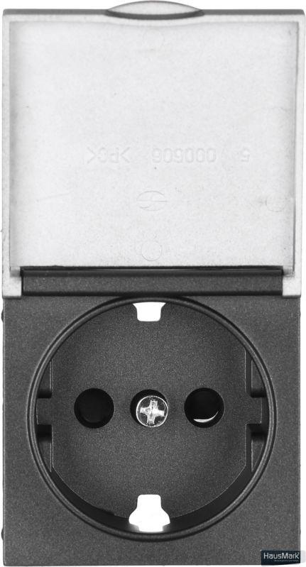 Накладка на механизм розетки HausMark Alta черный SNG-SCP.SQ20MG1WGC-BK