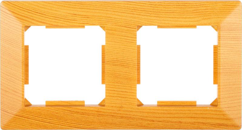 Рамка двухместная HausMark Alta горизонтальная бамбук SNG-FRP.SQ20G2-3/Bamboo