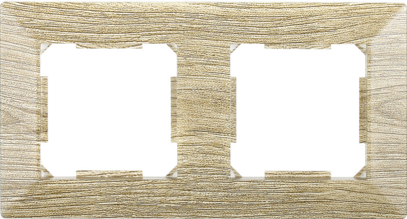 Рамка двухместная HausMark Alta горизонтальная винтажный серый SNG-FRP.SQ20G2-5/Oak-vintage-g