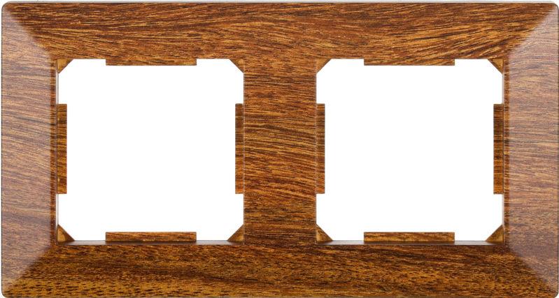 Рамка двухместная HausMark Alta горизонтальная орех SNG-FRP.SQ20G2-9/Walnut