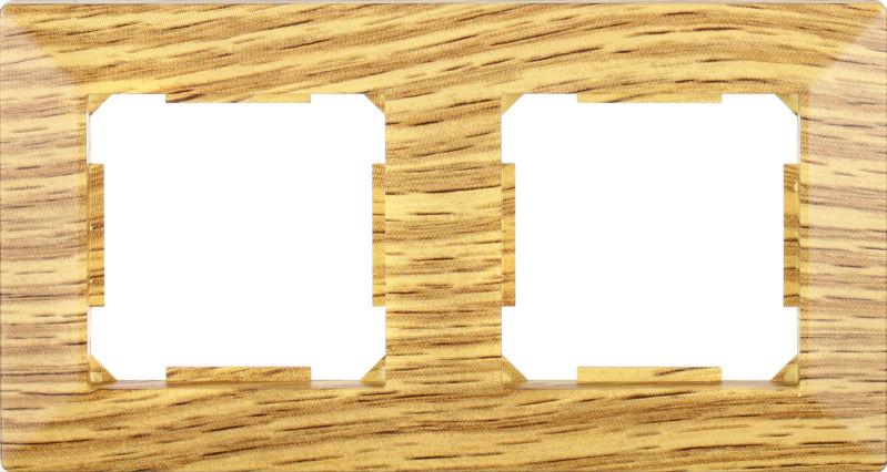 Рамка двухместная HausMark Alta горизонтальная дуб SNG-FRP.SQ20G2-6/Oak