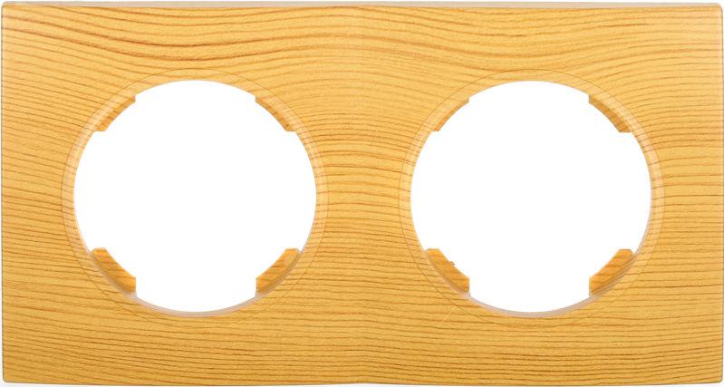 Рамка двухместная HausMark Bela горизонтальная бамбук SNG-FRP.RD20G2-3/Bamboo