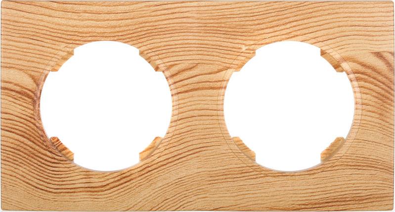 Рамка двухместная HausMark Bela горизонтальная ольха SNG-FRP.RD20G2-4/Alder