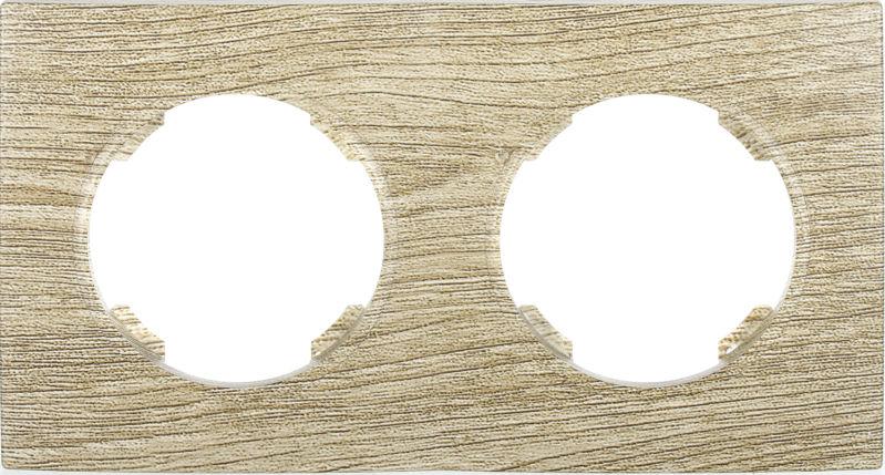 Рамка двухместная HausMark Bela горизонтальная винтажный серый SNG-FRP.RD20G2-5/Oak-vintage-g