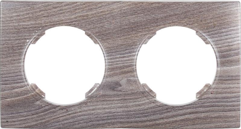 Рамка двухместная HausMark Bela горизонтальная вяз темный SNG-FRP.RD20G2-7/Elm-dark