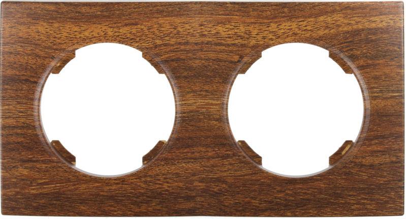 Рамка двухместная HausMark Bela горизонтальная орех SNG-FRP.RD20G2-9/Walnut
