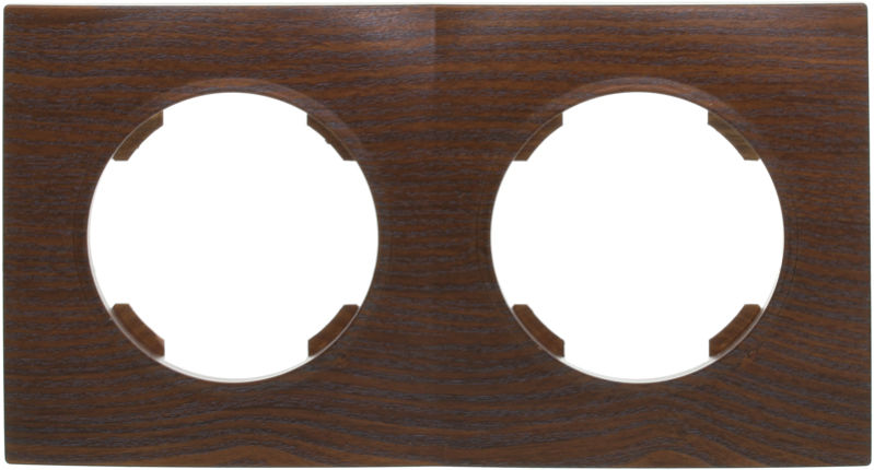 Рамка двухместная HausMark Bela горизонтальная дуб бронзовый SNG-FRP.RD20G2-8/Oak-bronze