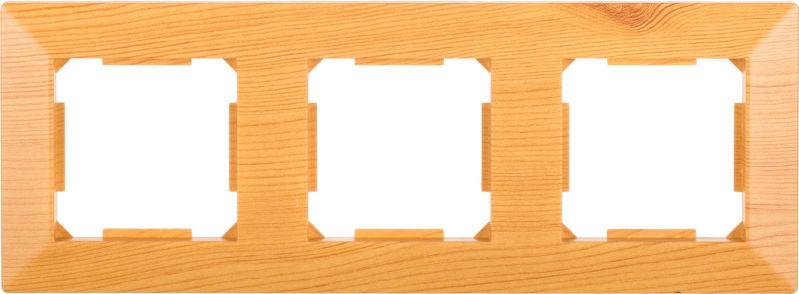 Рамка трехместная HausMark Alta горизонтальная бамбук SNG-FRP.SQ20G3-3/Bamboo