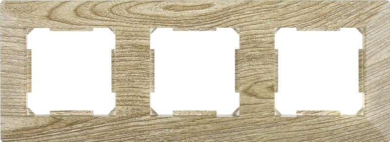Рамка трехместная HausMark Alta горизонтальная винтажный серый SNG-FRP.SQ20G3-5/Oak-vintage-g