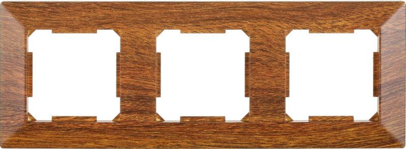 Рамка трехместная HausMark Alta горизонтальная орех SNG-FRP.SQ20G3-9/Walnut