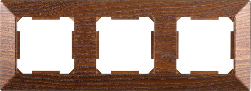 Рамка трехместная HausMark Alta горизонтальная дуб бронзовый SNG-FRP.SQ20G3-8/Oak-bronze