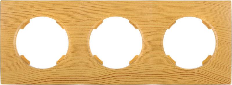 Рамка трехместная HausMark Bela горизонтальная бамбук SNG-FRP.RD20G3-3/Bamboo