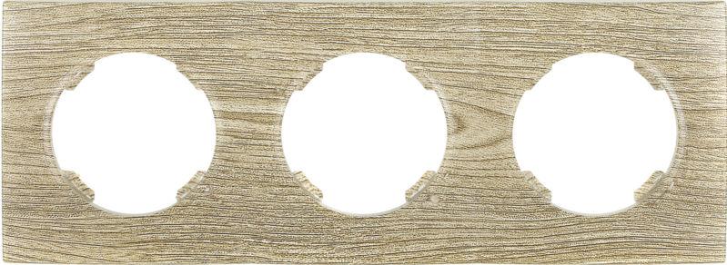 Рамка трехместная HausMark Bela горизонтальная винтажный серый SNG-FRP.RD20G3-5/Oak-vintage-g