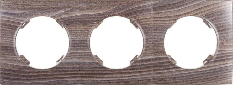 Рамка трехместная HausMark Bela горизонтальная вяз темный SNG-FRP.RD20G3-7/Elm-dark