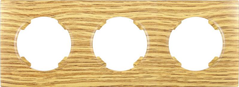Рамка трехместная HausMark Bela горизонтальная дуб SNG-FRP.RD20G3-6/Oak