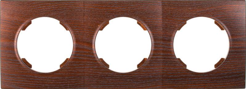 Рамка трехместная HausMark Bela горизонтальная дуб бронзовый SNG-FRP.RD20G3-8/Oak-bronze