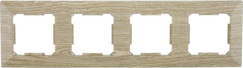 Рамка четырехместная HausMark Alta горизонтальная винтажный серый SNG-FRP.SQ20G4-5/Oak-vintage-g