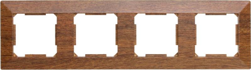Рамка четырехместная HausMark Alta горизонтальная орех SNG-FRP.SQ20G4-9/Walnut