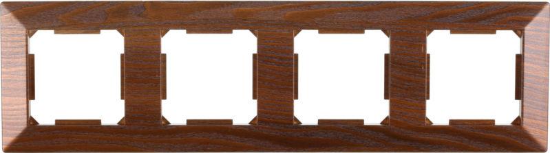 Рамка четырехместная HausMark Alta горизонтальная дуб бронзовый SNG-FRP.SQ20G4-8/Oak-bronze