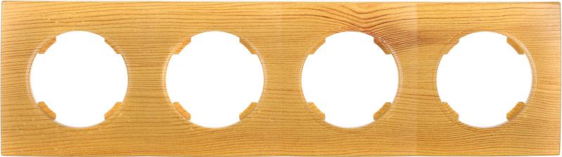Рамка четырехместная HausMark Bela горизонтальная бамбук SNG-FRP.RD20G4-3/Bamboo