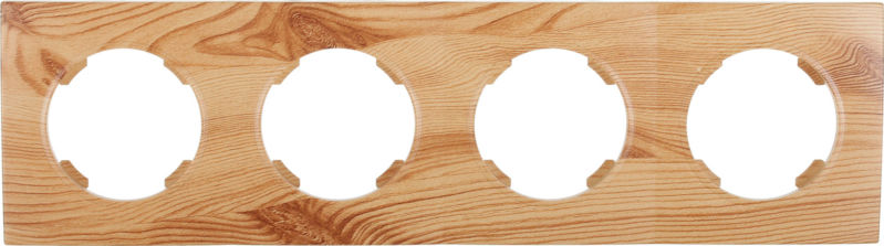 Рамка четырехместная HausMark Bela горизонтальная ольха SNG-FRP.RD20G4-4/Alder