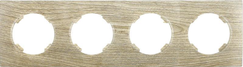 Рамка четырехместная HausMark Bela горизонтальная винтажный серый SNG-FRP.RD20G4-5/Oak-vintage-g