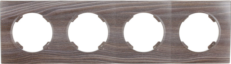 Рамка четырехместная HausMark Bela горизонтальная вяз темный SNG-FRP.RD20G4-7/Elm-dark