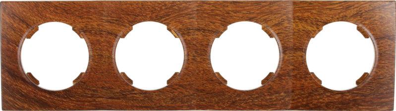 Рамка четырехместная HausMark Bela горизонтальная орех SNG-FRP.RD20G4-9/Walnut
