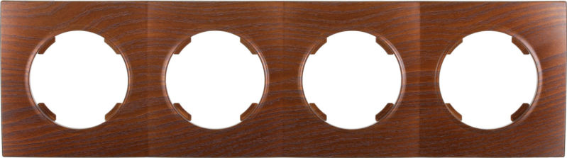 Рамка четырехместная HausMark Bela горизонтальная дуб бронзовый SNG-FRP.RD20G4-8/Oak-bronze