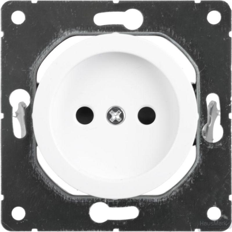 Розетка без заземления HausMark Bela белый SNG-SCP.RD20MG1WTG-WH