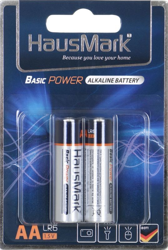 Батарейка HausMark Basic Power AA 2 шт. (MST-AL2АА)