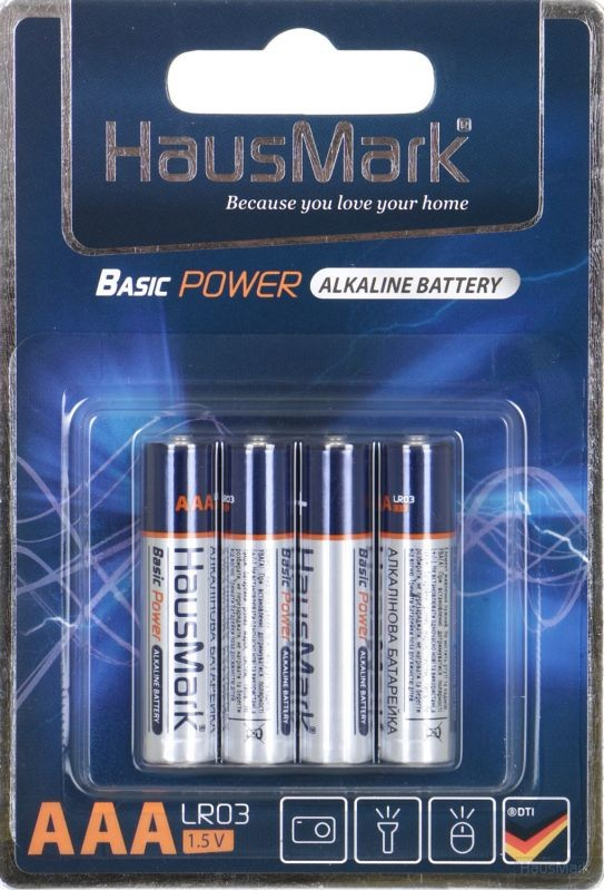 Батарейка HausMark Basic Power ААА 4 шт. (MST-AL4ААА)