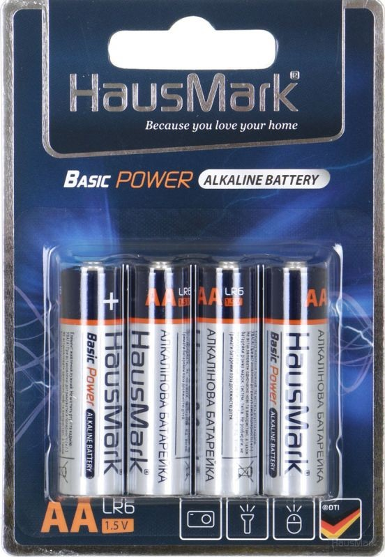 Батарейка HausMark Basic Power AA 4 шт. (MST-AL4АА)