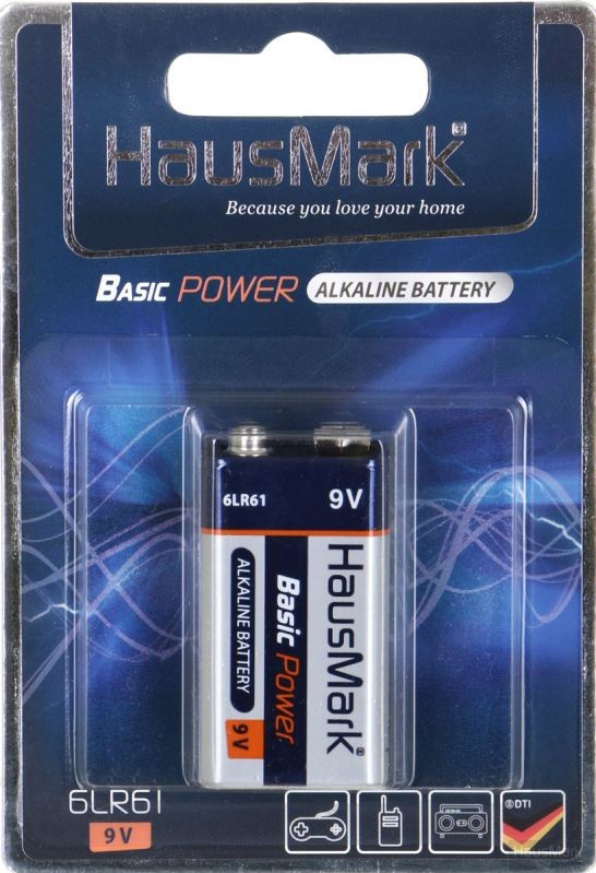 Батарейка HausMark Basic Power 6LR61 1 шт. (MST-1AL9V)