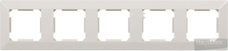 Рамка HausMark Alta 5-на горизонтальная крем SNG-FRP,SQ20G5-CR