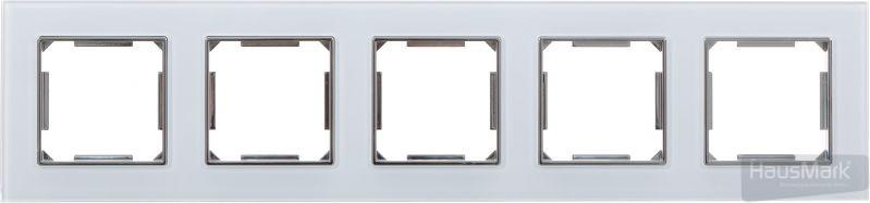 Рамка HausMark Alta 5-на горизонтальная белый SNG-FRG,SQ20G5-WH