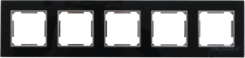 Рамка HausMark Alta 5 на горизонтальная черный SNG-FRG,SQ20G5-BK