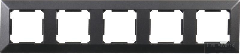 Рамка HausMark Alta 5-на горизонтальная черный SNG-FRP,SQ20G5-BK