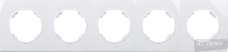 Рамка HausMark Bela 5-на горизонтальная белый SNG-FRP,RD20G5-WH