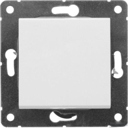 Выключатель перекрестный одноклавишный HausMark Alta без подсветки 10 А 220В белый SNG-SWP.SQ20MG1W3-W