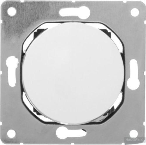 Выключатель перекрестный одноклавишный HausMark Bela без подсветки 10 А 220В белый SNG-SWP.RD20MG1W3-W